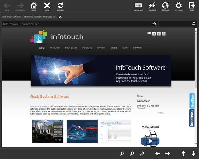 InfoTouch Basic Screen shot
